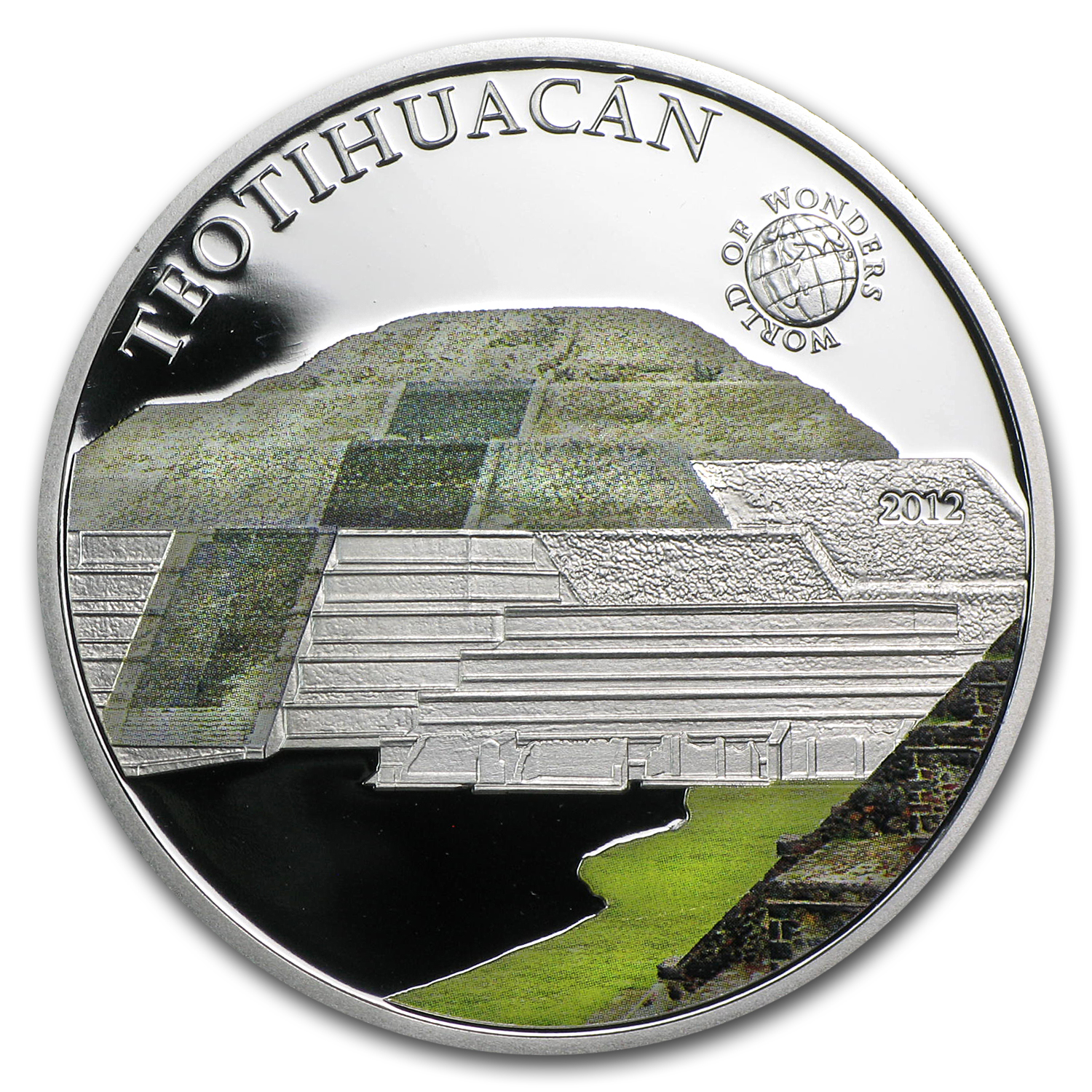 2012 Palau Proof Silver $5 World of Wonders Teotihuacán