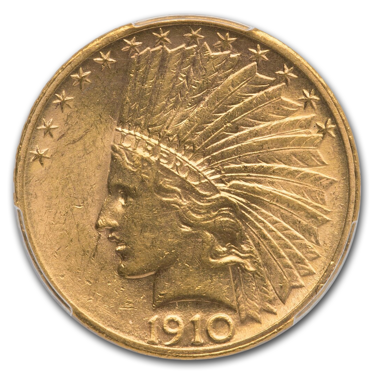 1910-S $10 Indian Gold Eagle AU-58 PCGS