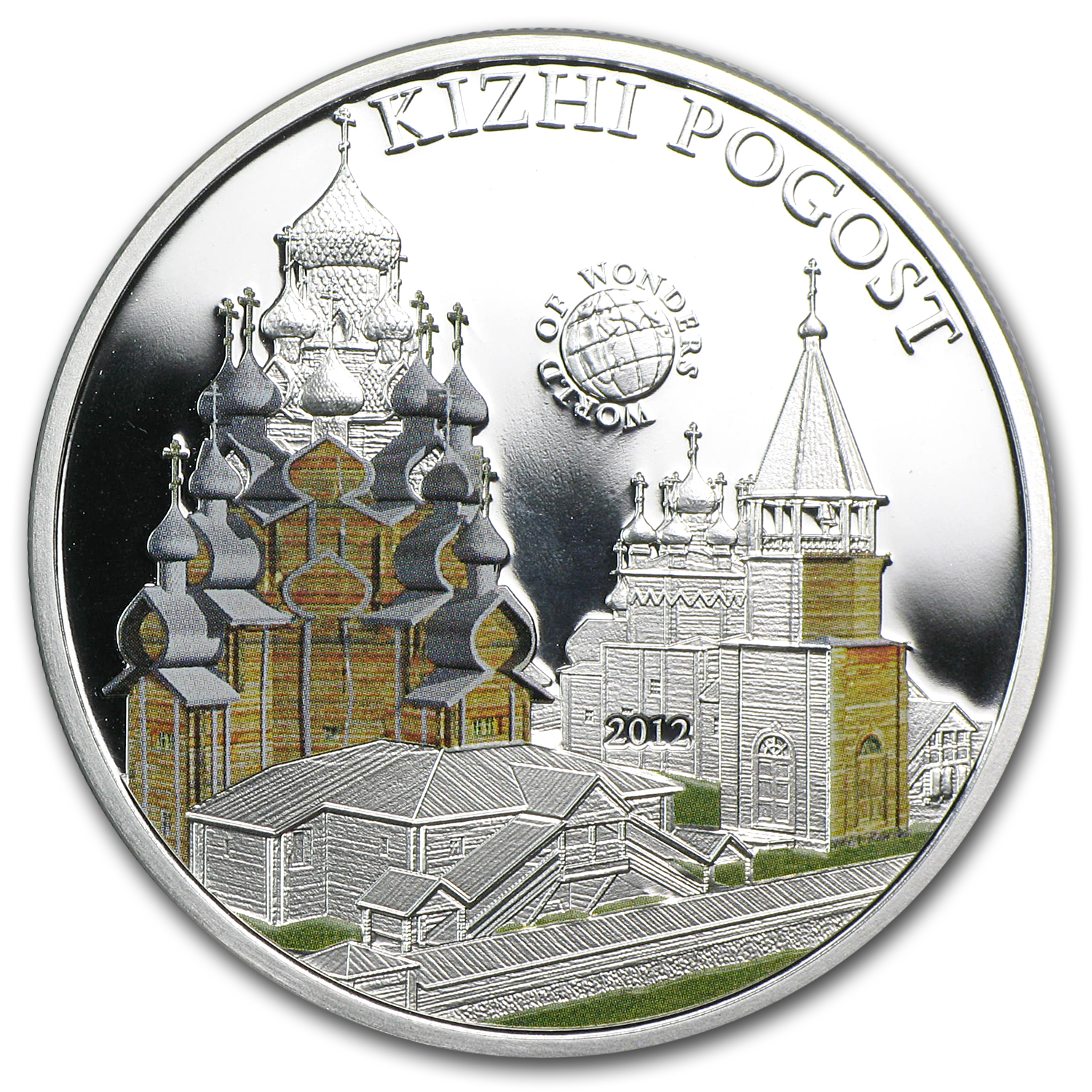 2012 Palau Proof Silver $5 World of Wonders Kizhi Pogost
