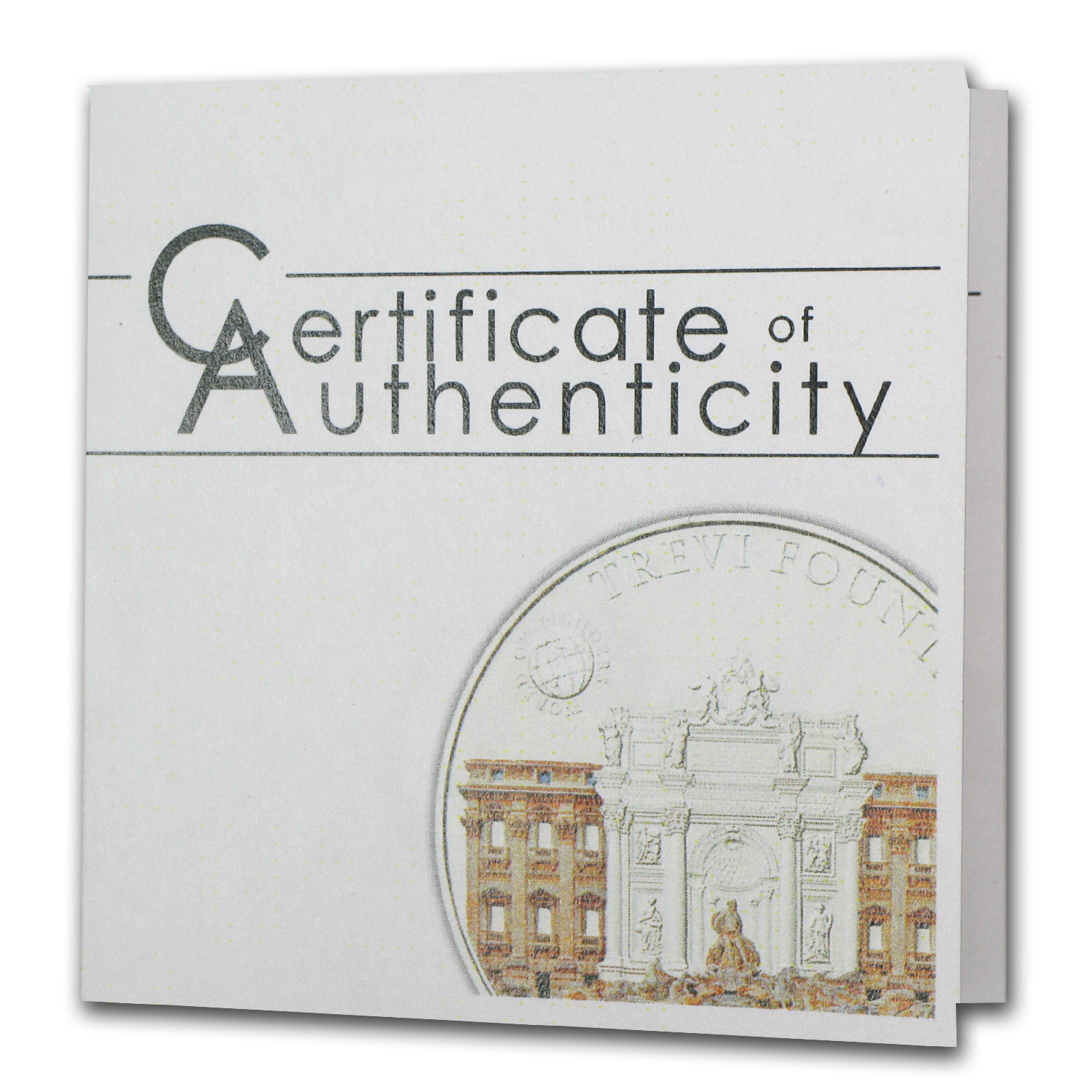 2012 Palau Proof Silver $5 World of Wonders Trevi Fountain