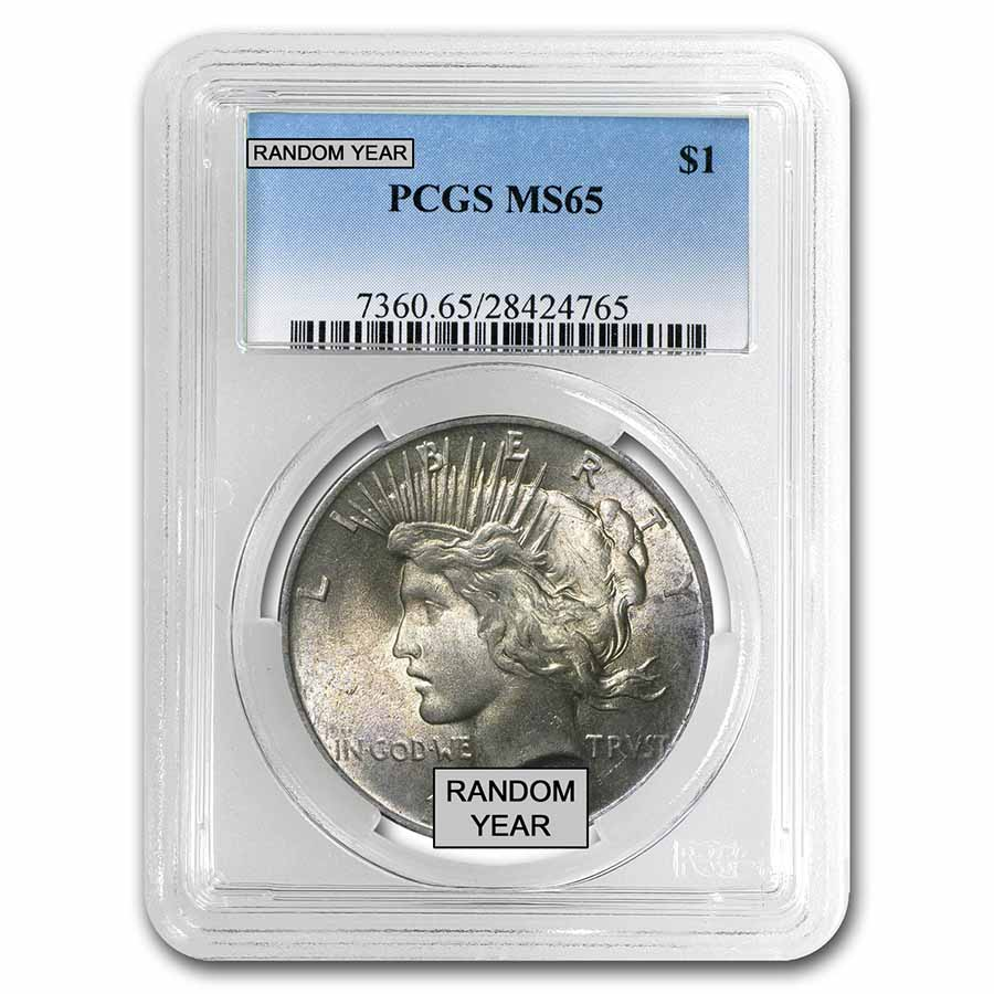 1922-1925 Peace Dollars MS-65 PCGS
