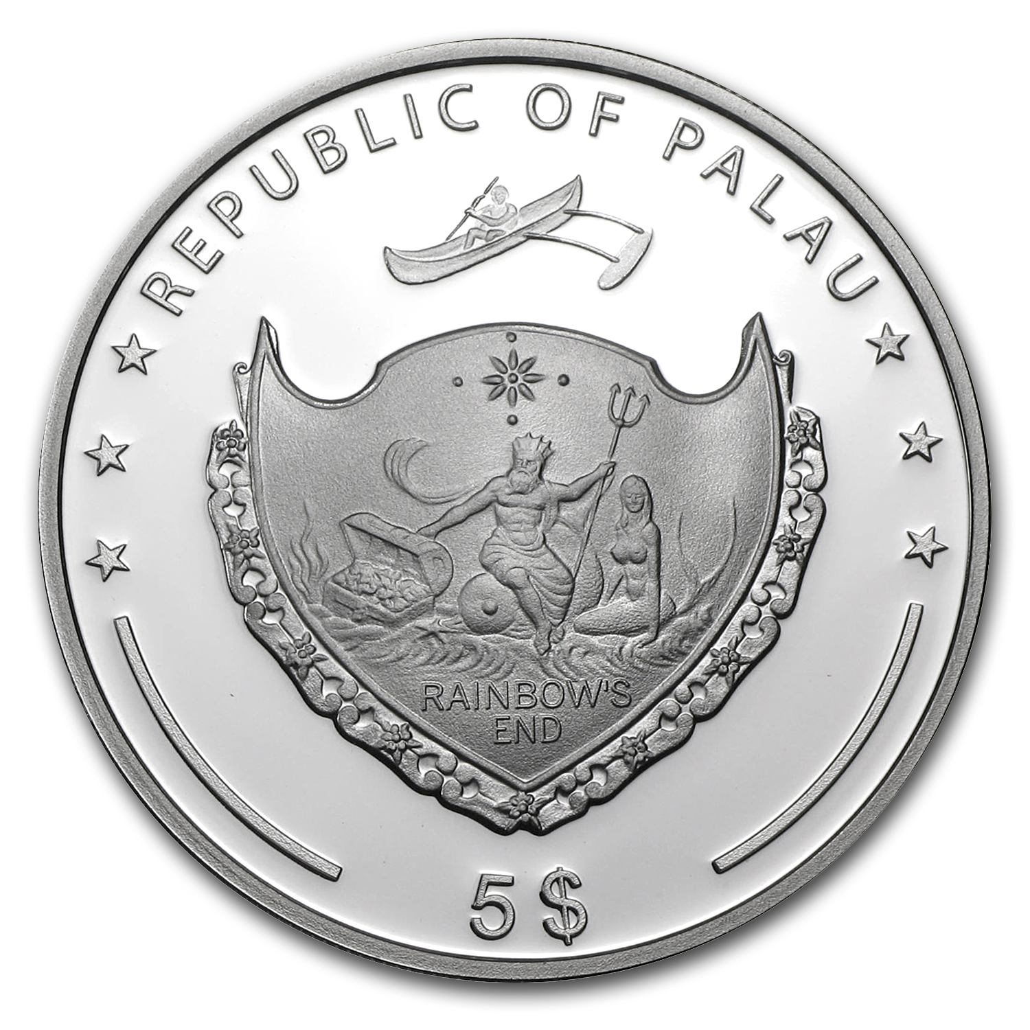 Palau 2011 Silver Proof $5 World of Wonders-Leaning Tower of Pisa