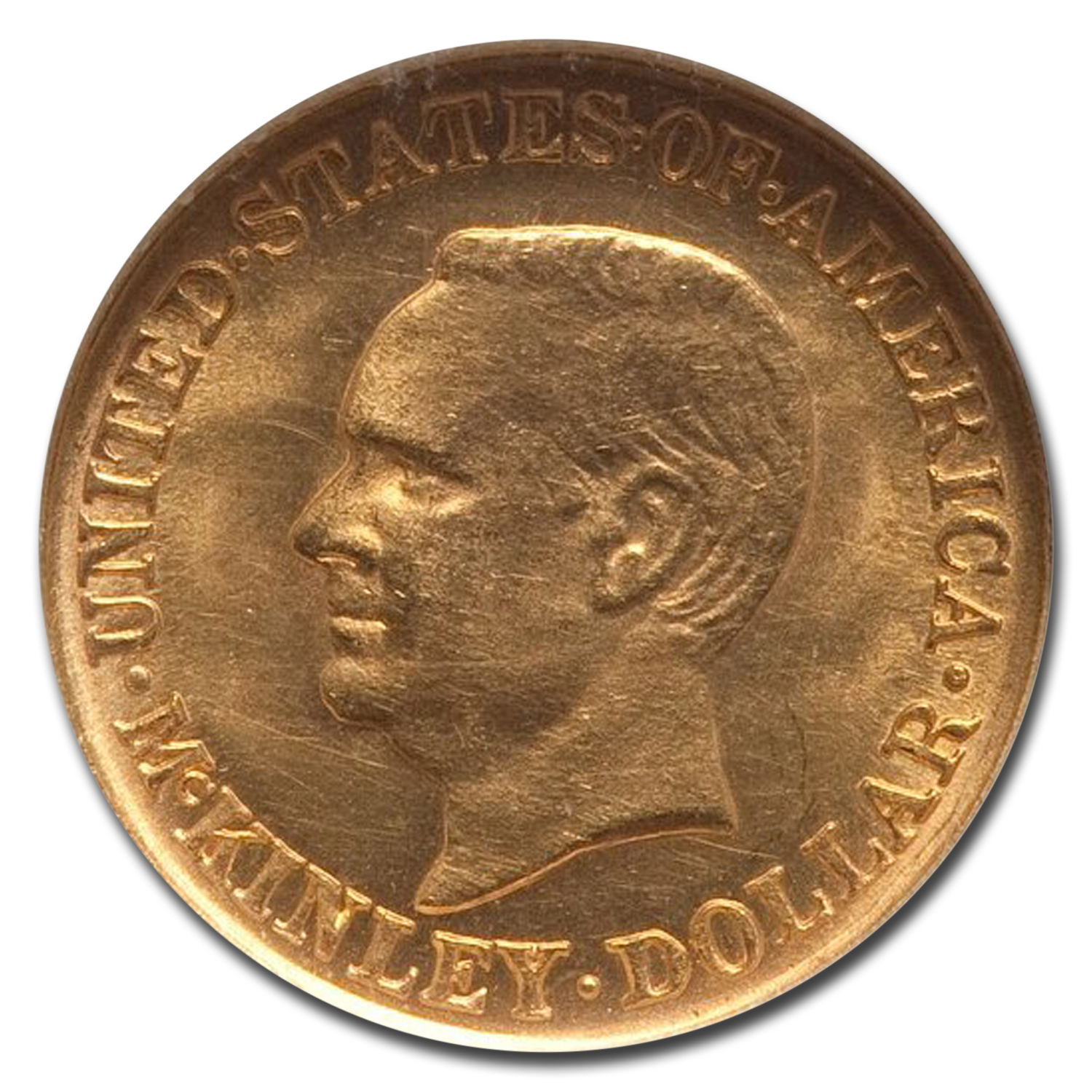 1916 Gold $1.00 McKinley MS-62 NGC