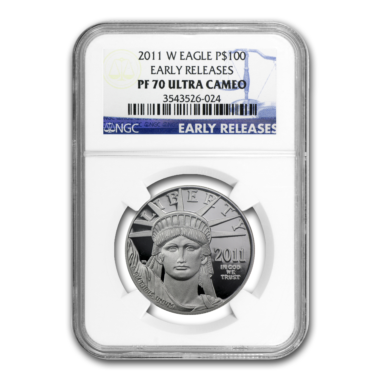 2011-W 1 oz Proof Platinum American Eagle PF-70 NGC (ER)