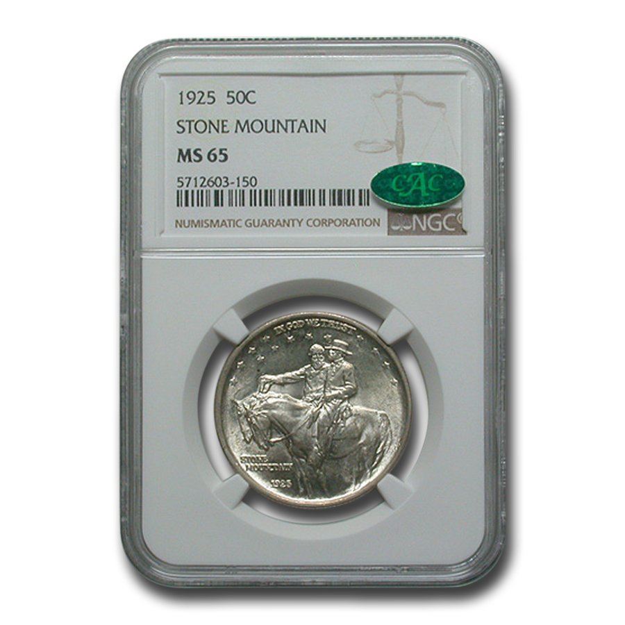 1925 Stone Mountain Memorial Half Dollar MS-65 NGC CAC