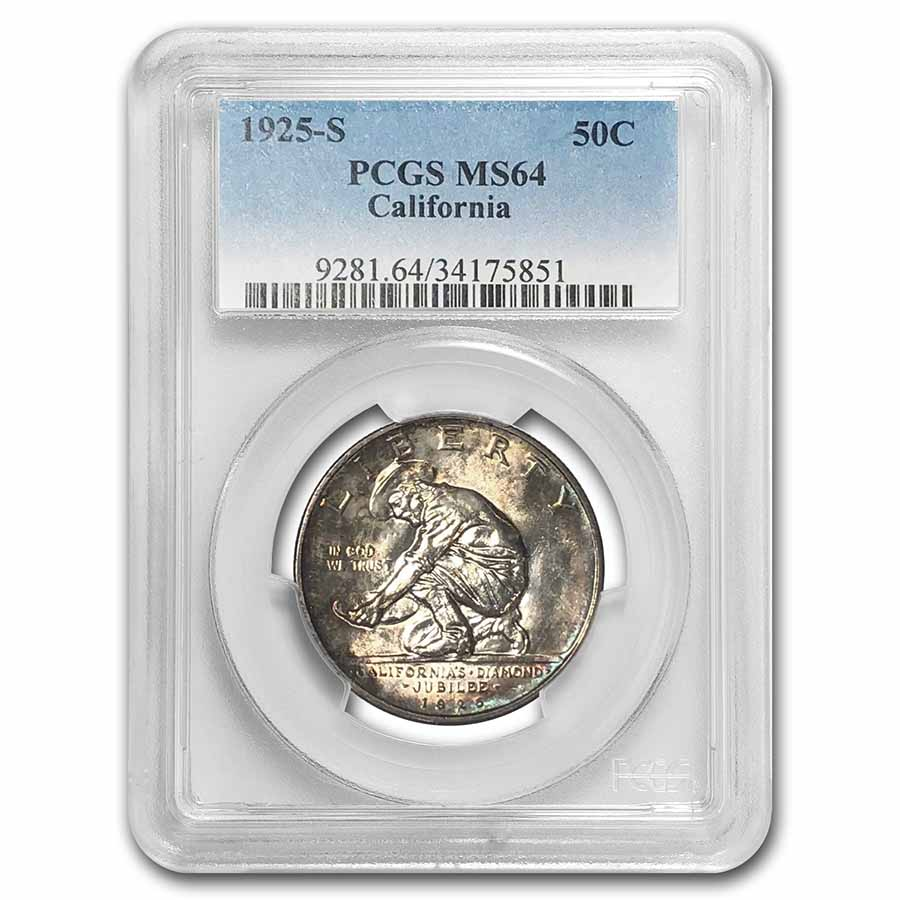 1925-S California Diamond Jubilee Half MS-64 PCGS
