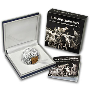 2011 Palau Silver $2 Ten Commandments First Commandment