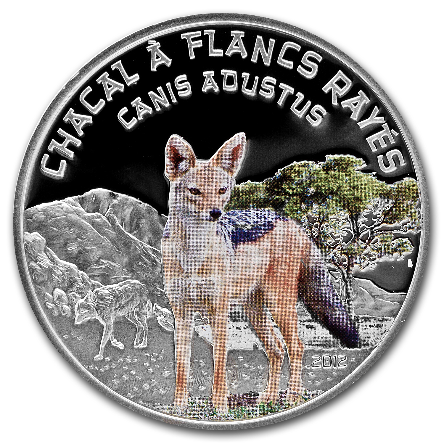 2012 Niger Silver Predator Hunters Side Striped Jackal Proof