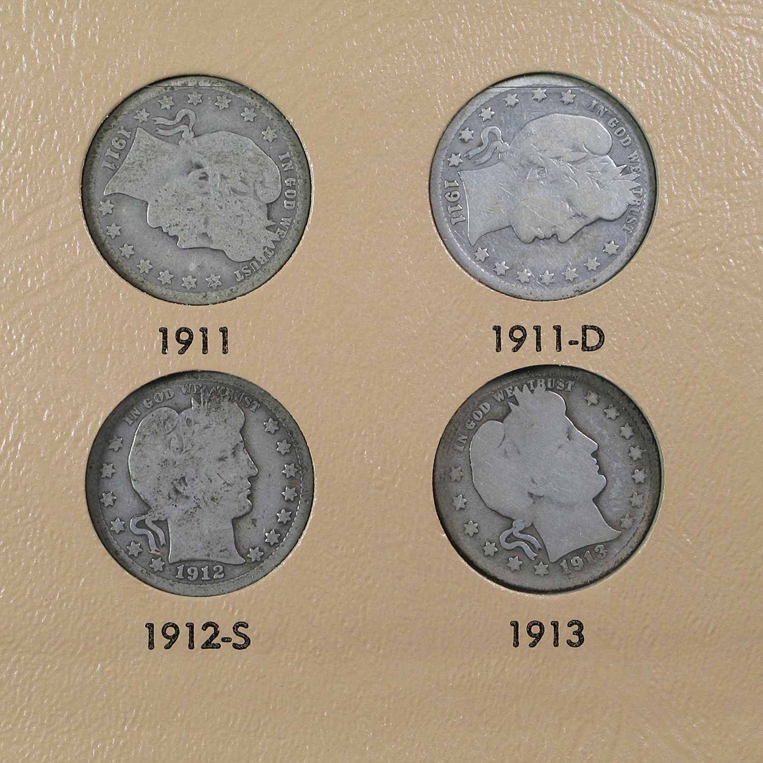 Barber Quarter Set 1892-1916 Complete Set All 74 coins!