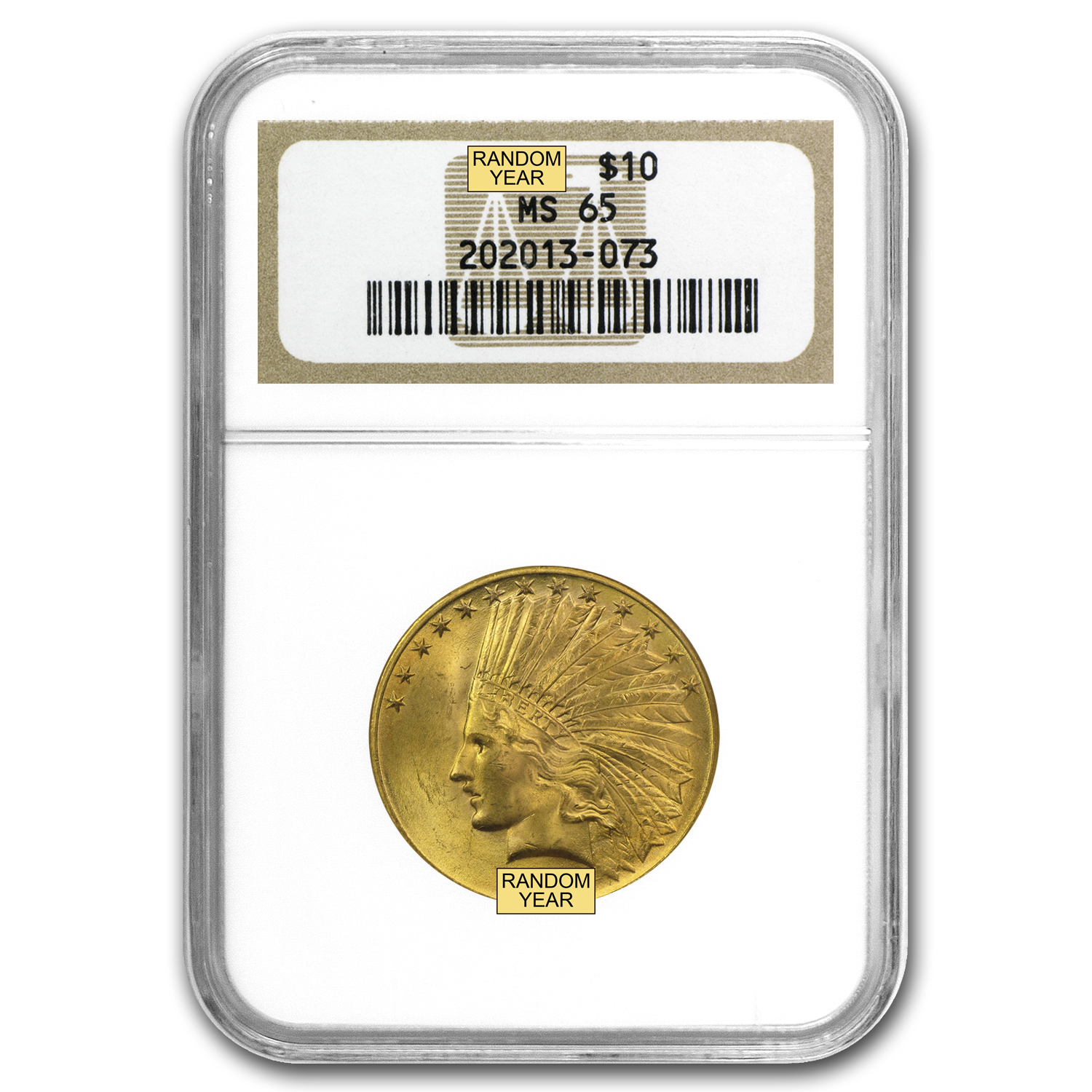 $10 Indian Gold Eagle MS-65 NGC
