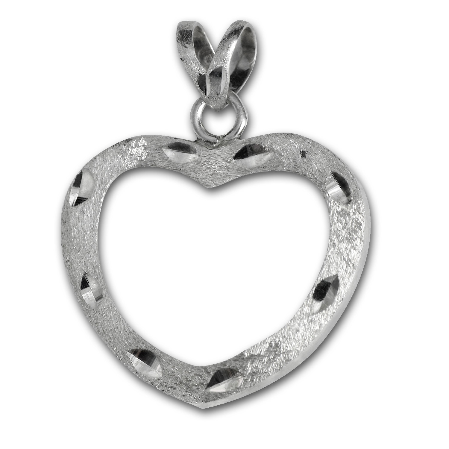 Sterling Silver Prong Heart Shaped Bezel
