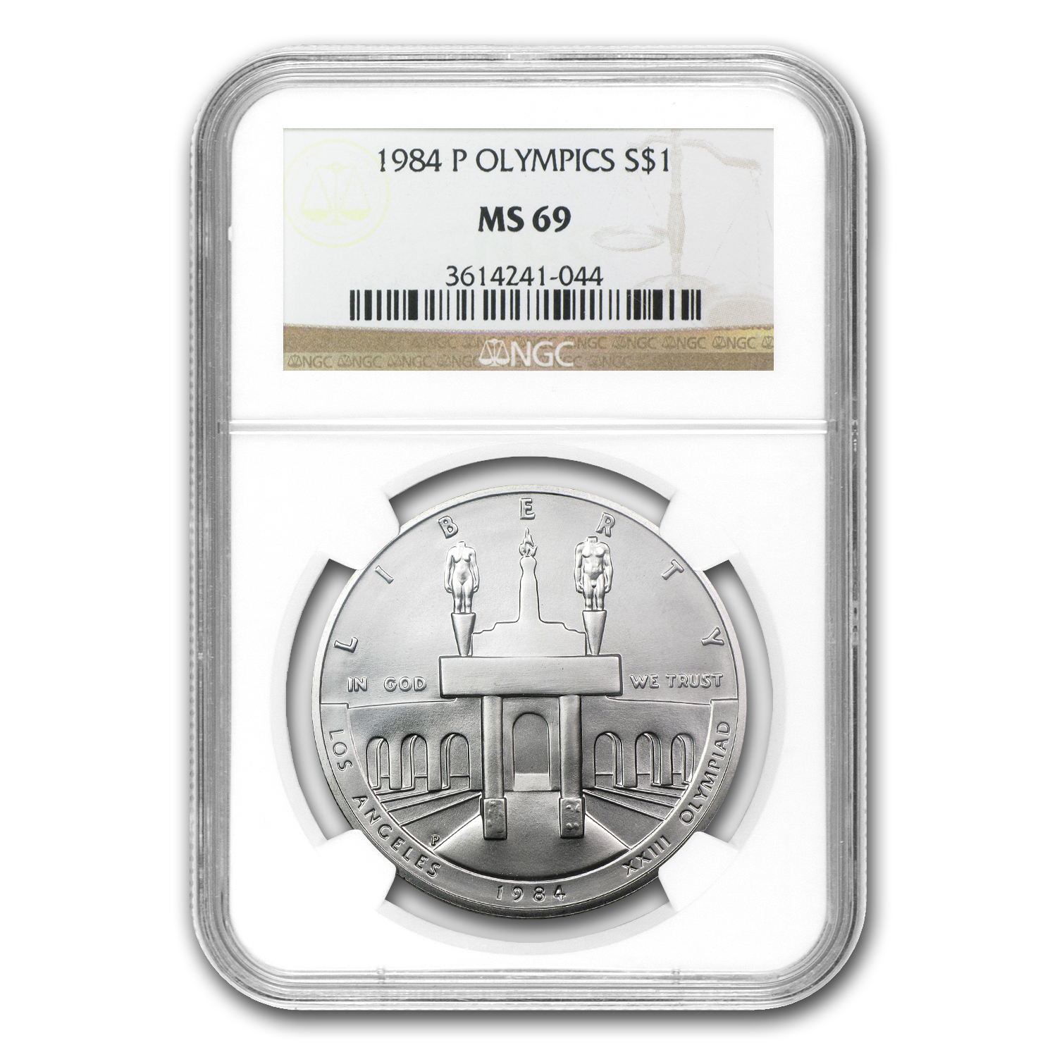 1984-P Olympic $1 Silver Commem MS-69 NGC