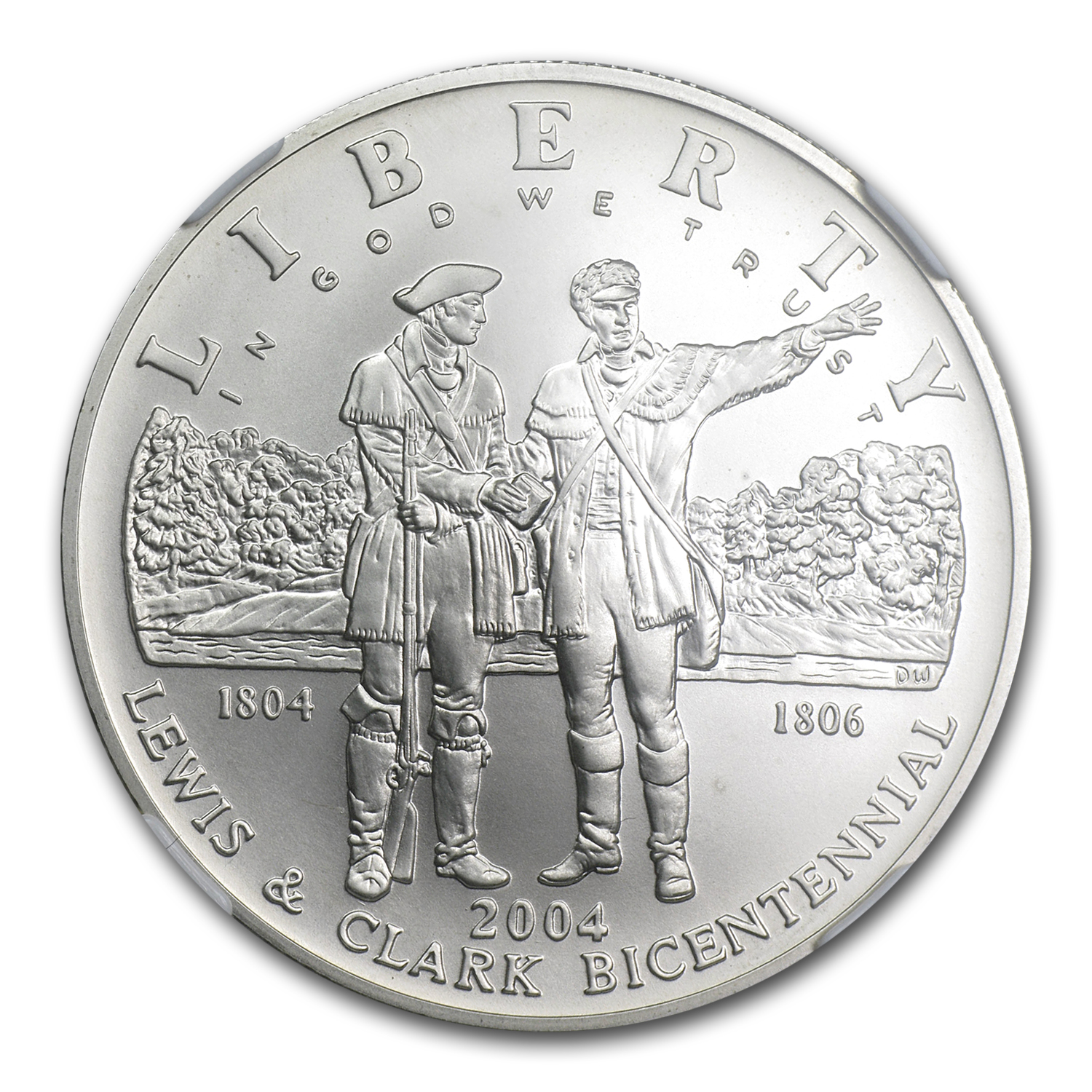 2004-P Lewis&Clark Bicentennial $1 Silver Commemorative MS-69 NGC