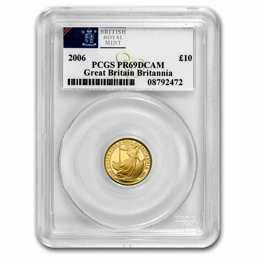 2006 4-Coin Proof Gold Britannia Set PR-69 Deep Cameo PCGS