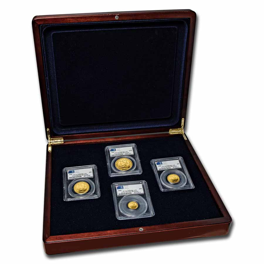 2006 4-Coin Gold Britannia Proof Set PR-69 PCGS