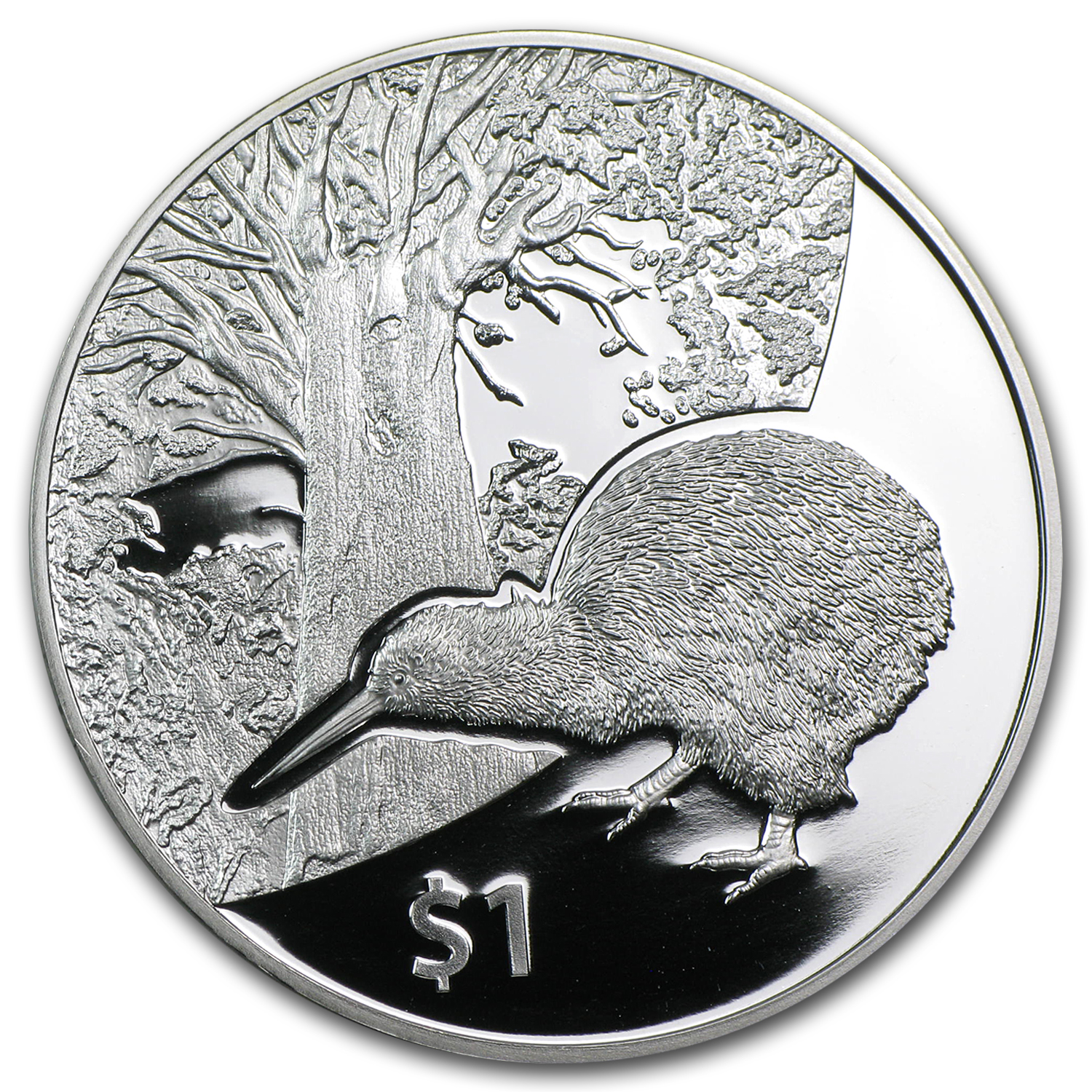 2013 1 oz Silver New Zealand Treasures $1 Kiwi Proof