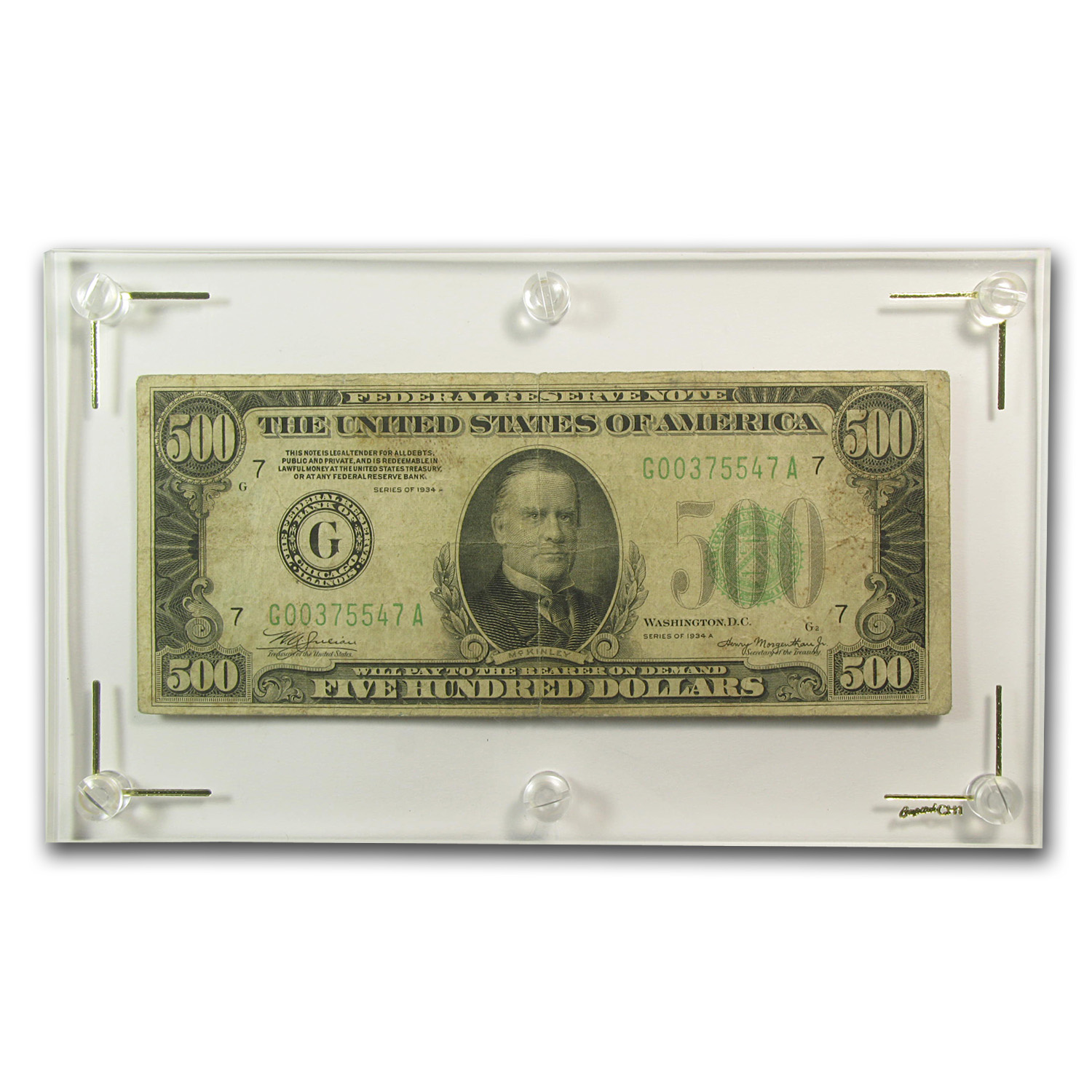 1934 $500 FRNs VG/Fine w/Issues