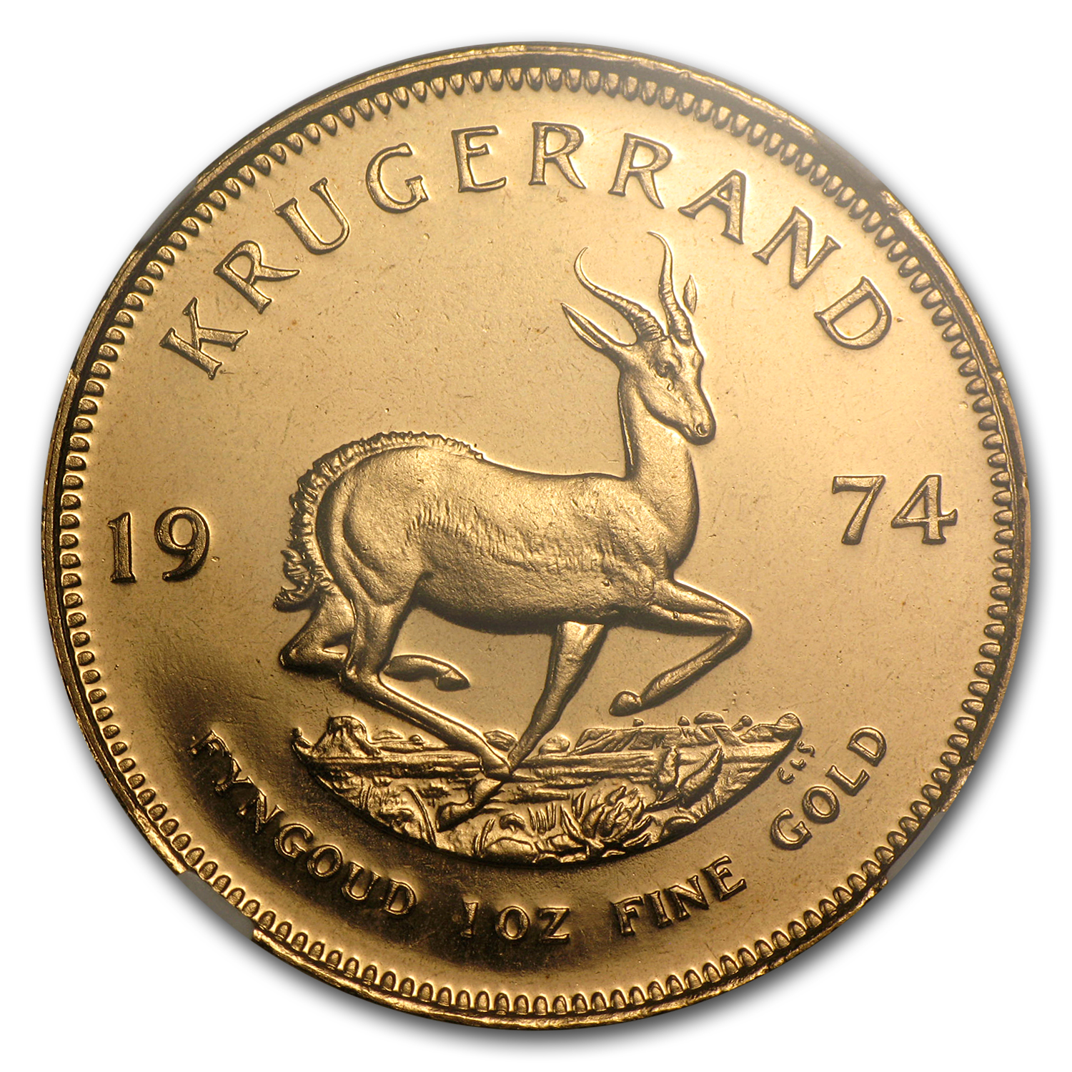 1974 South Africa 1 oz Gold Krugerrand PF-68 Cameo NGC