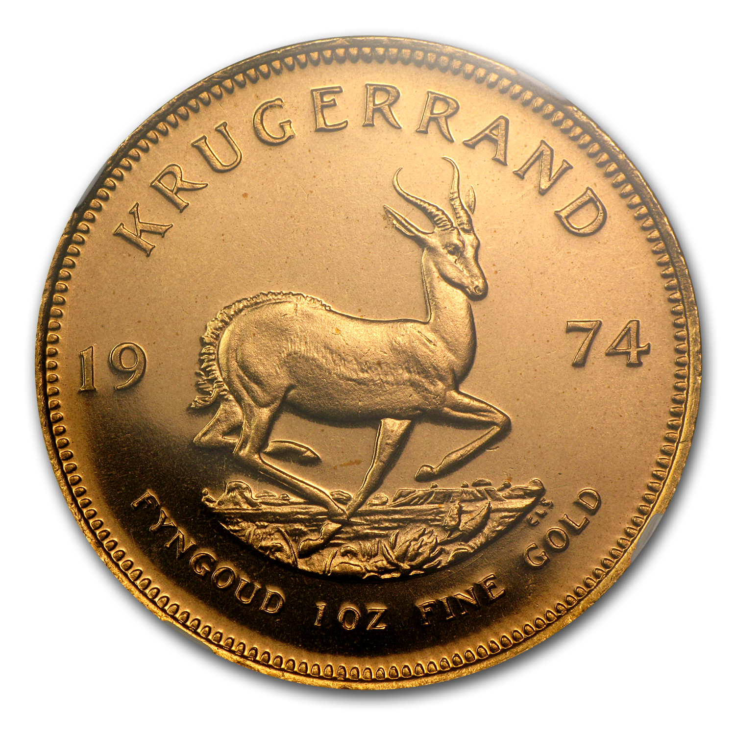 1974 1 oz Gold South African Krugerrand PF-68 UCAM NGC