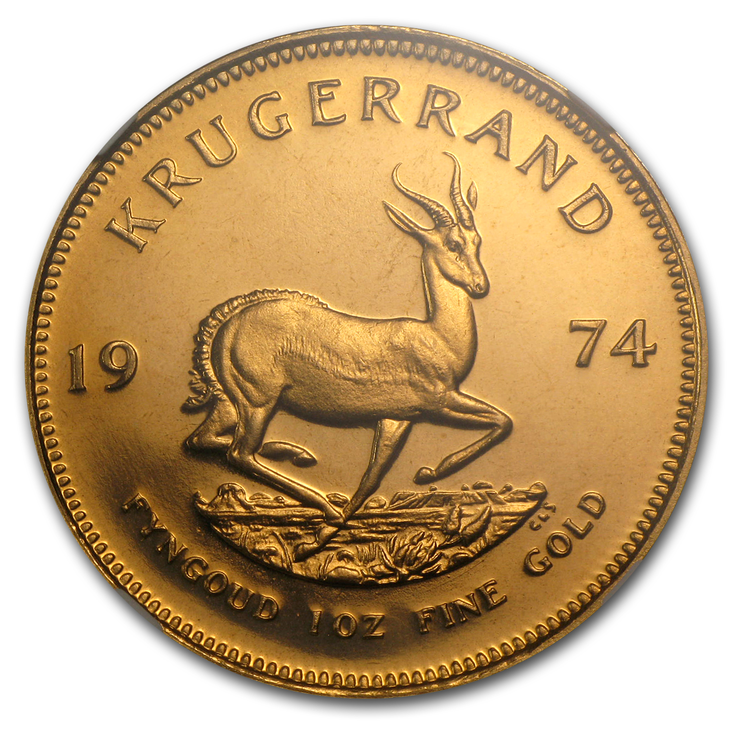 1974 1 oz Gold South African Krugerrand PF-67 UCAM NGC