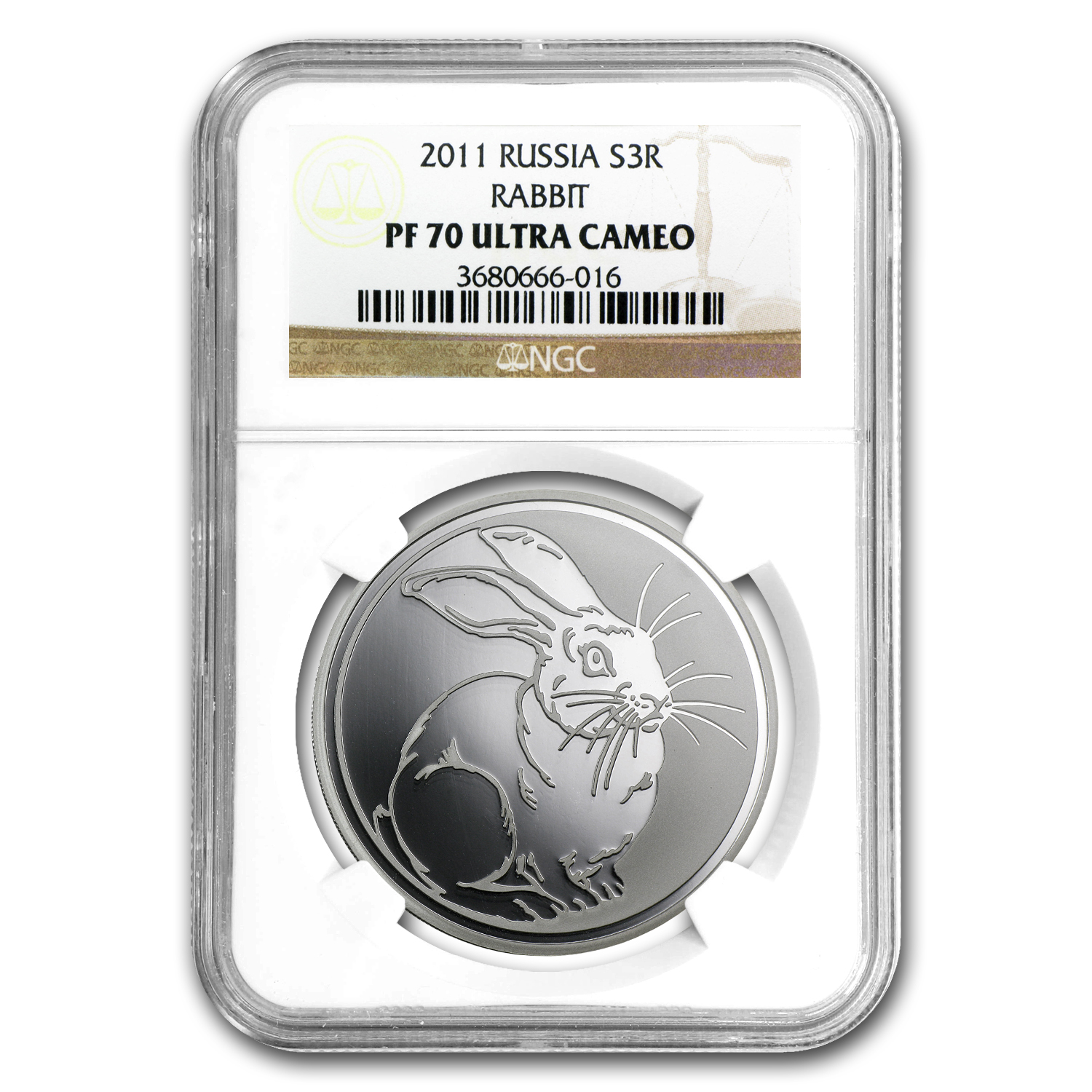 2011 Russia 1 oz Silver Year of the Rabbit PF-70 NGC