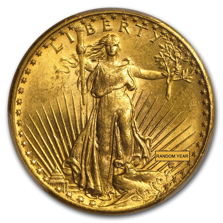 $20 Saint-Gaudens Gold Double Eagle MS-64 PCGS