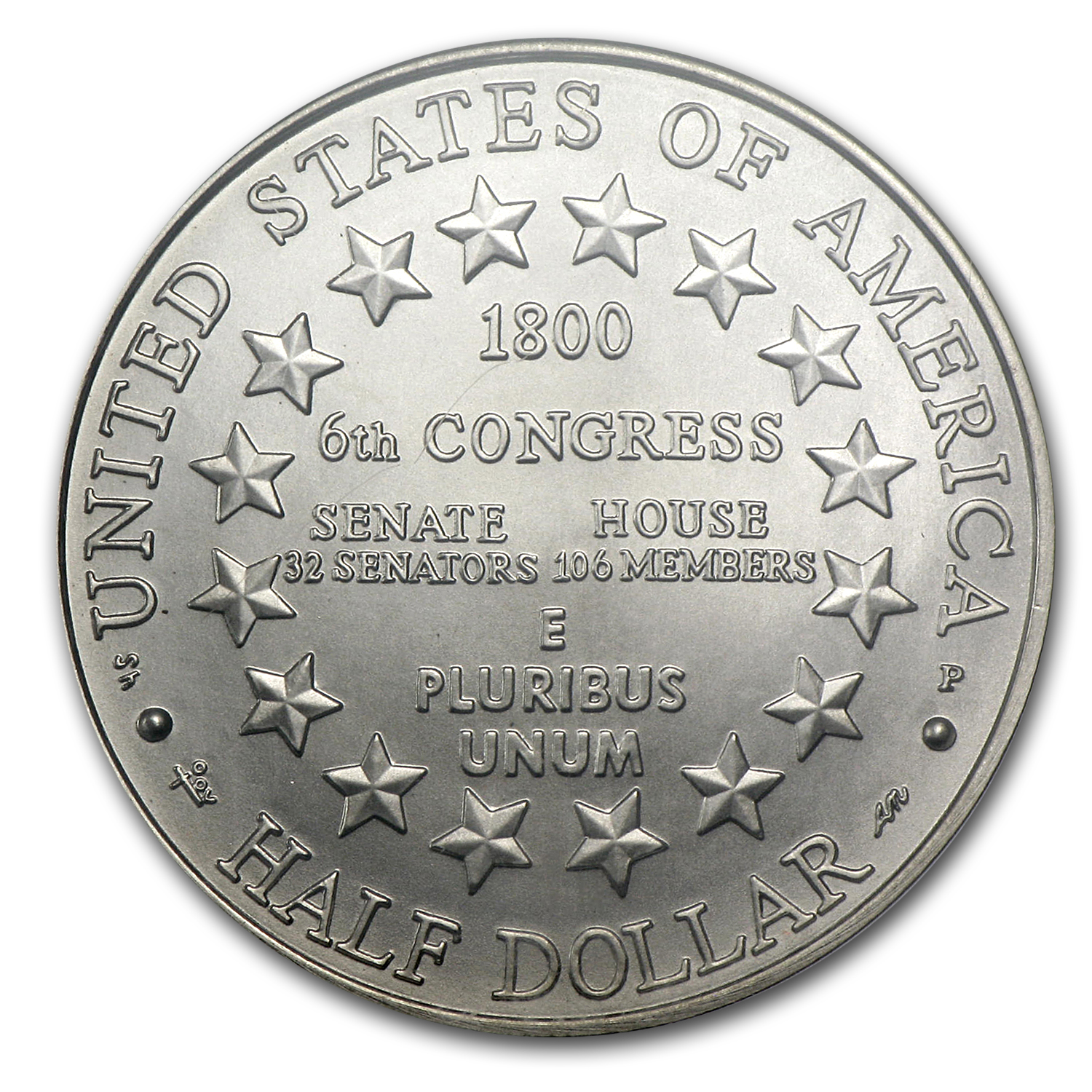 2001-P Capitol Visitor Center 1/2 Dollar Clad Commem MS-70 NGC