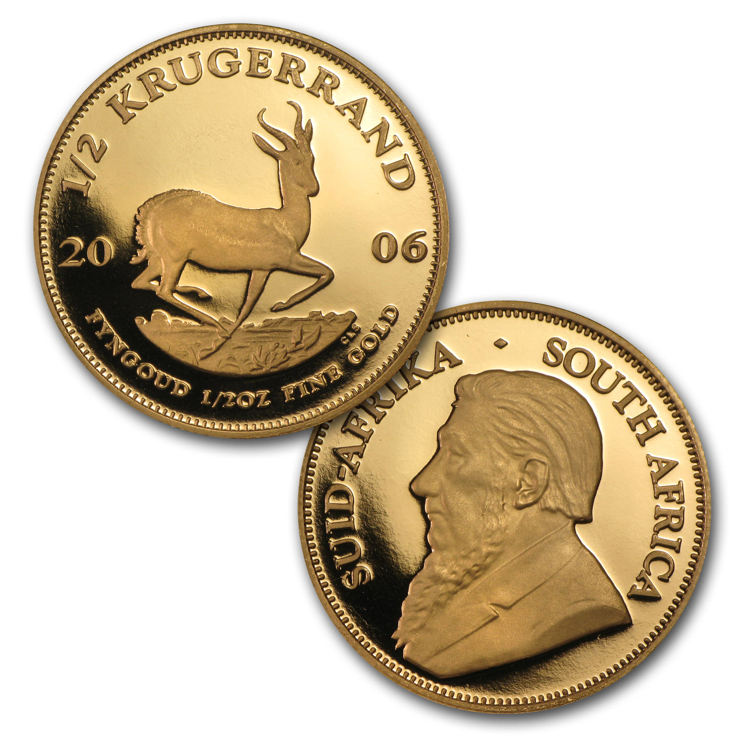 2006 5-Coin Gold South African Krugerrand Otto Schultz Proof Set