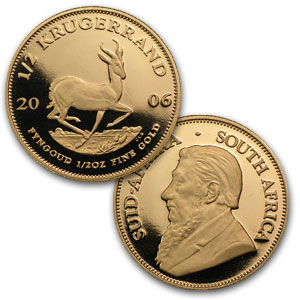 2006 South Africa 5-Coin Proof Gold Otto Schultz Krugerrand Set