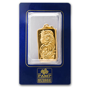 1/2 oz Gold Pendants - Pamp Suisse Ingot (Fortuna, Rectangle)