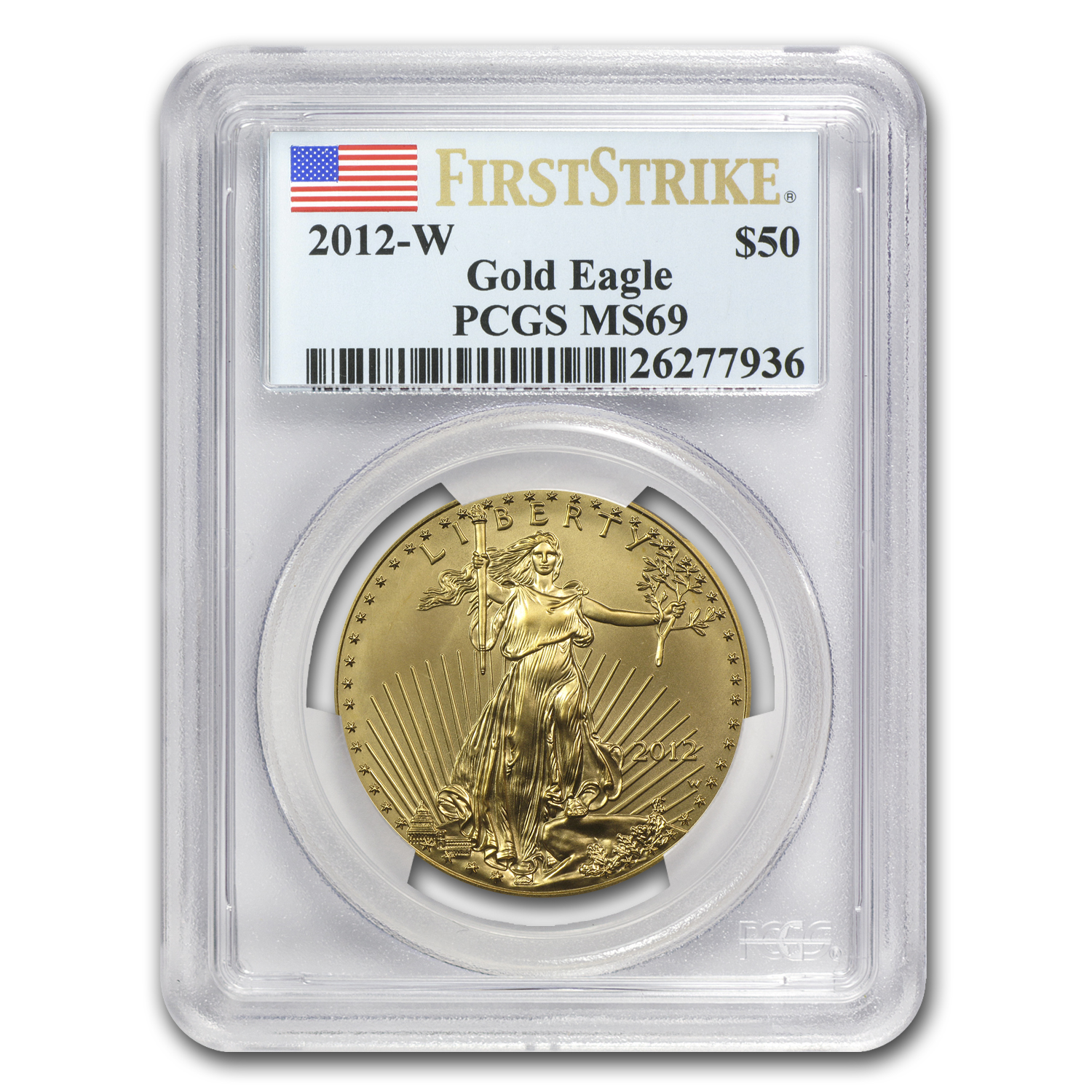 2012-W 1 oz Burnished Gold Eagle MS-69 PCGS (FS)