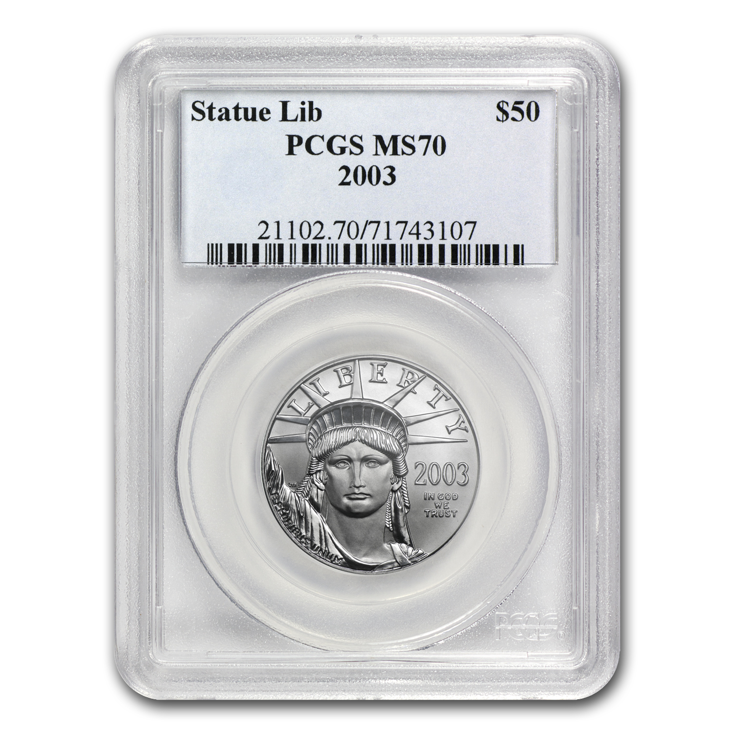 2003 1/2 oz Platinum American Eagle MS-70 PCGS