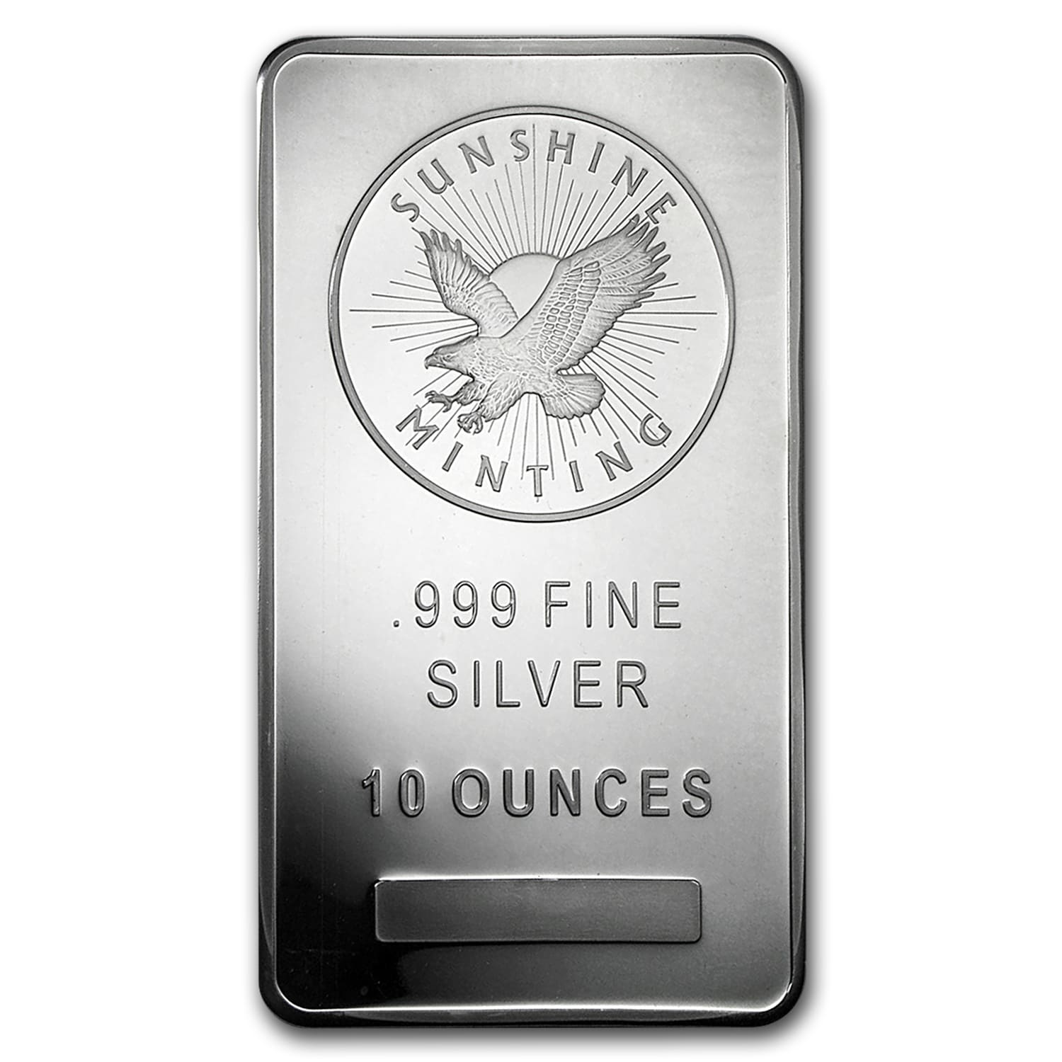 10 oz Silver Bar - Sunshine (MintMark SI)
