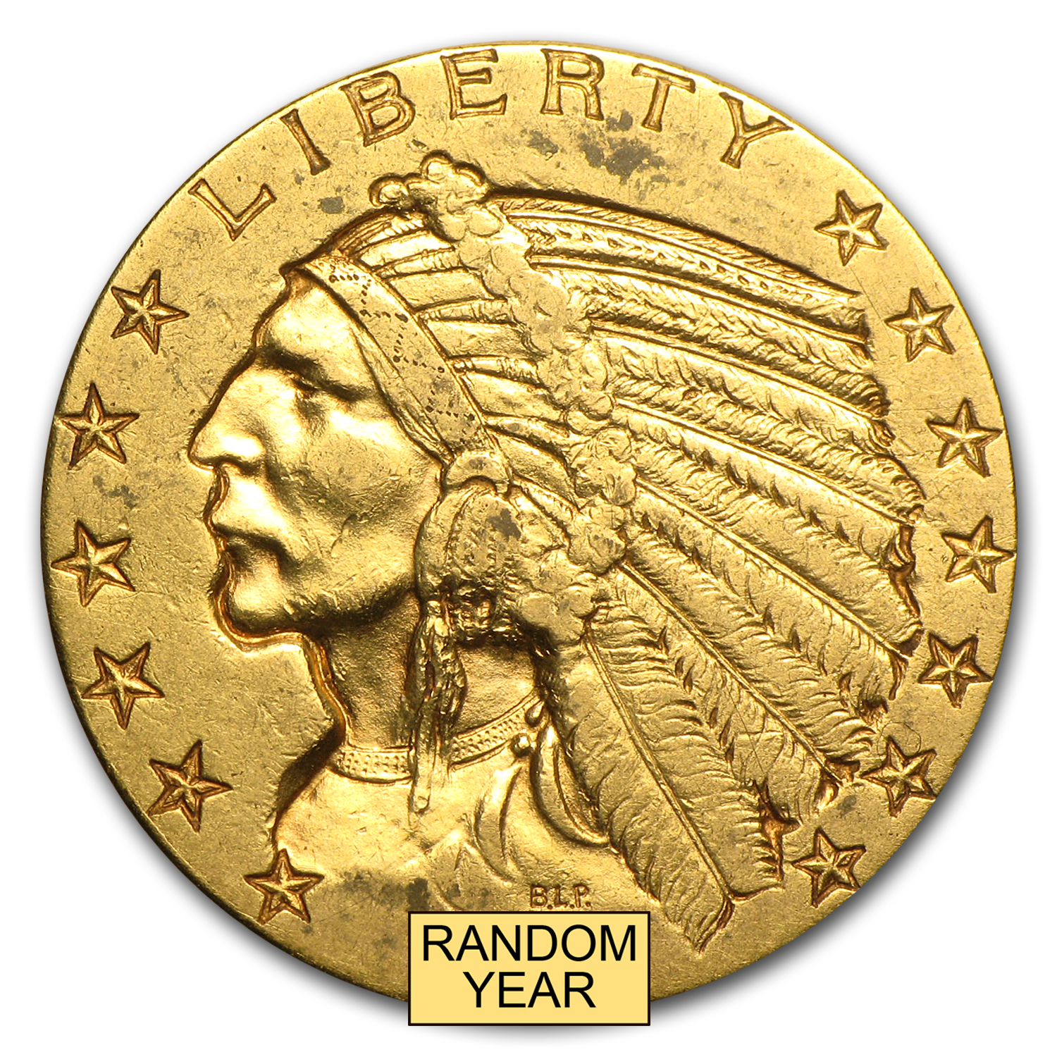 $5 Indian Gold Half Eagle Extra Fine