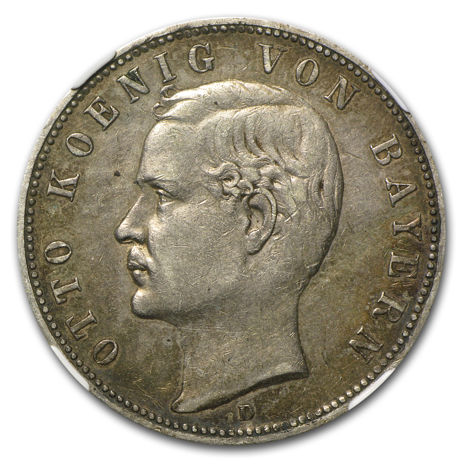 Bavaria 1899-D 5 Mark Otto - NGC XF-40