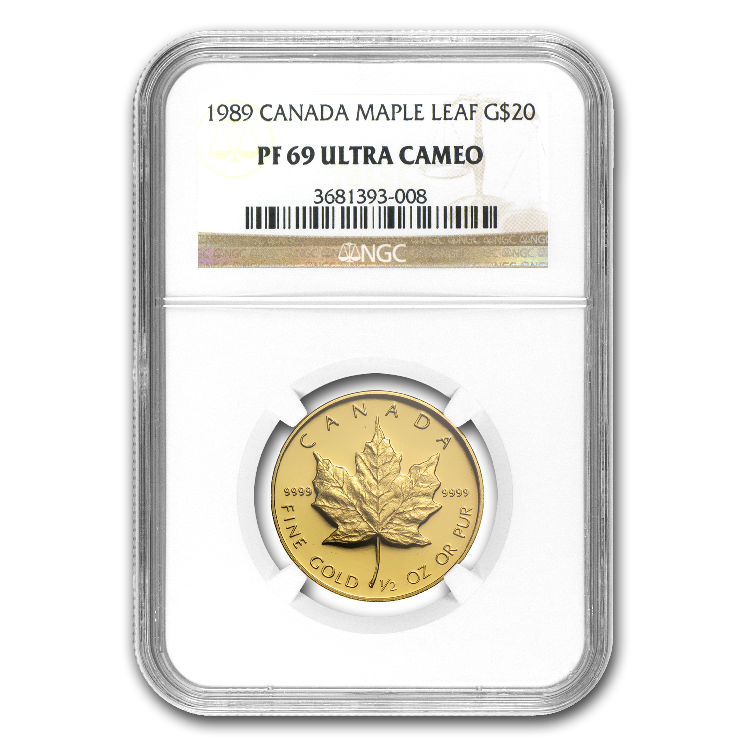 1989 Canada 4-Coin Gold Maple Leaf Commem Proof Set PF-69 NGC