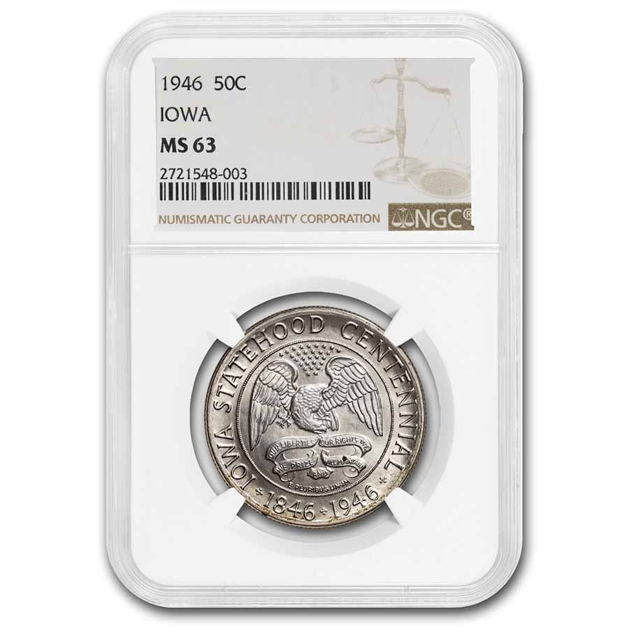 1946 Iowa Centennial Half Dollar MS-63 NGC