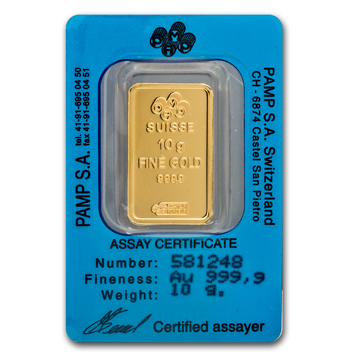 10 gram Gold Bar - Pamp Suisse (Capricorn the Goat, in assay)