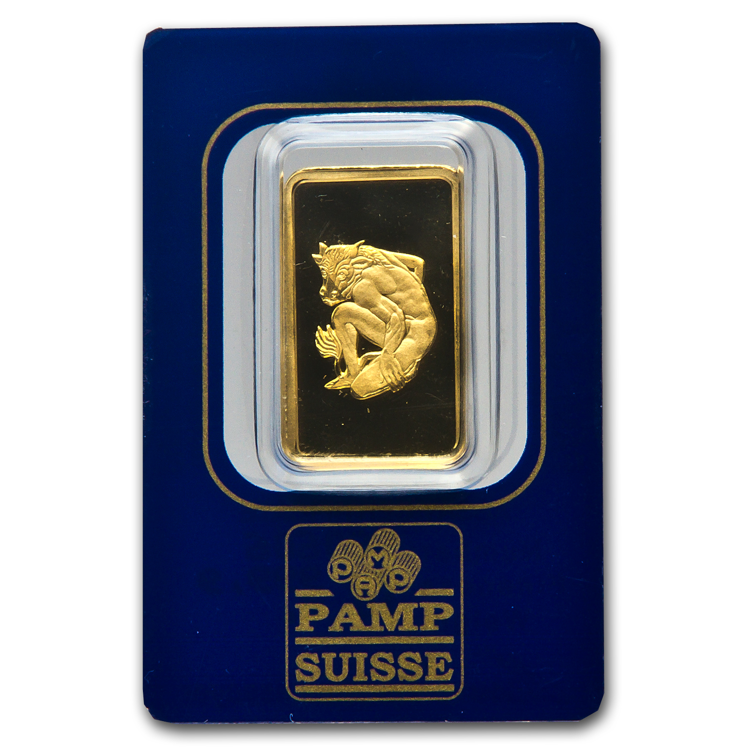 10 gram Gold Bar - Pamp Suisse Taurus the Bull (In assay)