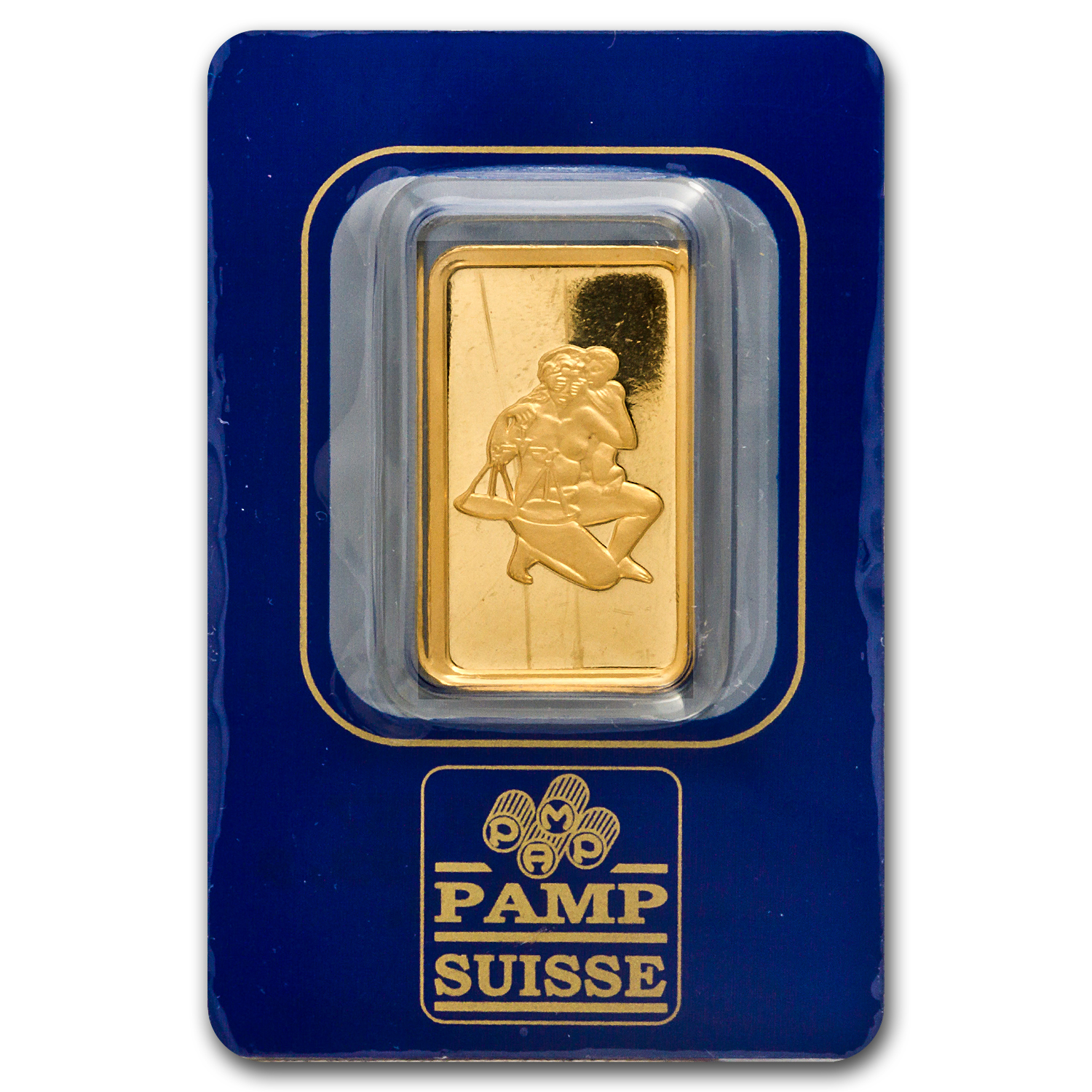 10 gram Gold Bar - Pamp Suisse Libra the Scales (In assay)
