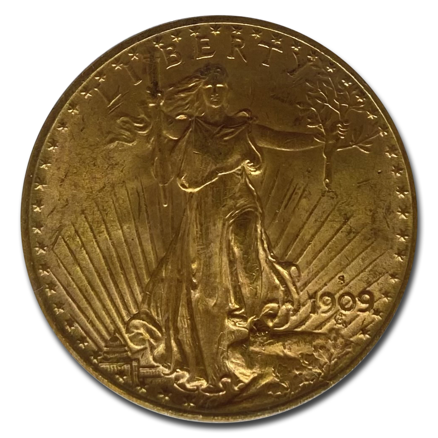 1909-S $20 Saint-Gaudens Gold Double Eagle MS-65 PCGS