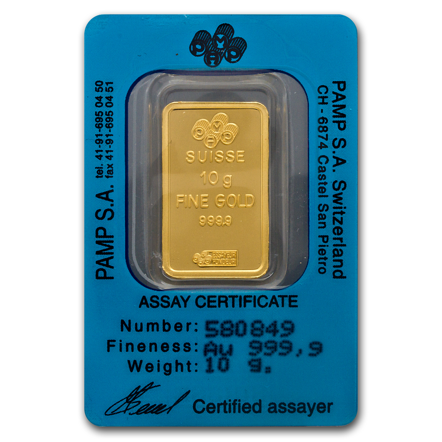 10 gram Gold Bars - Pamp Suisse (Sagittarius the Archer, w/Assay)