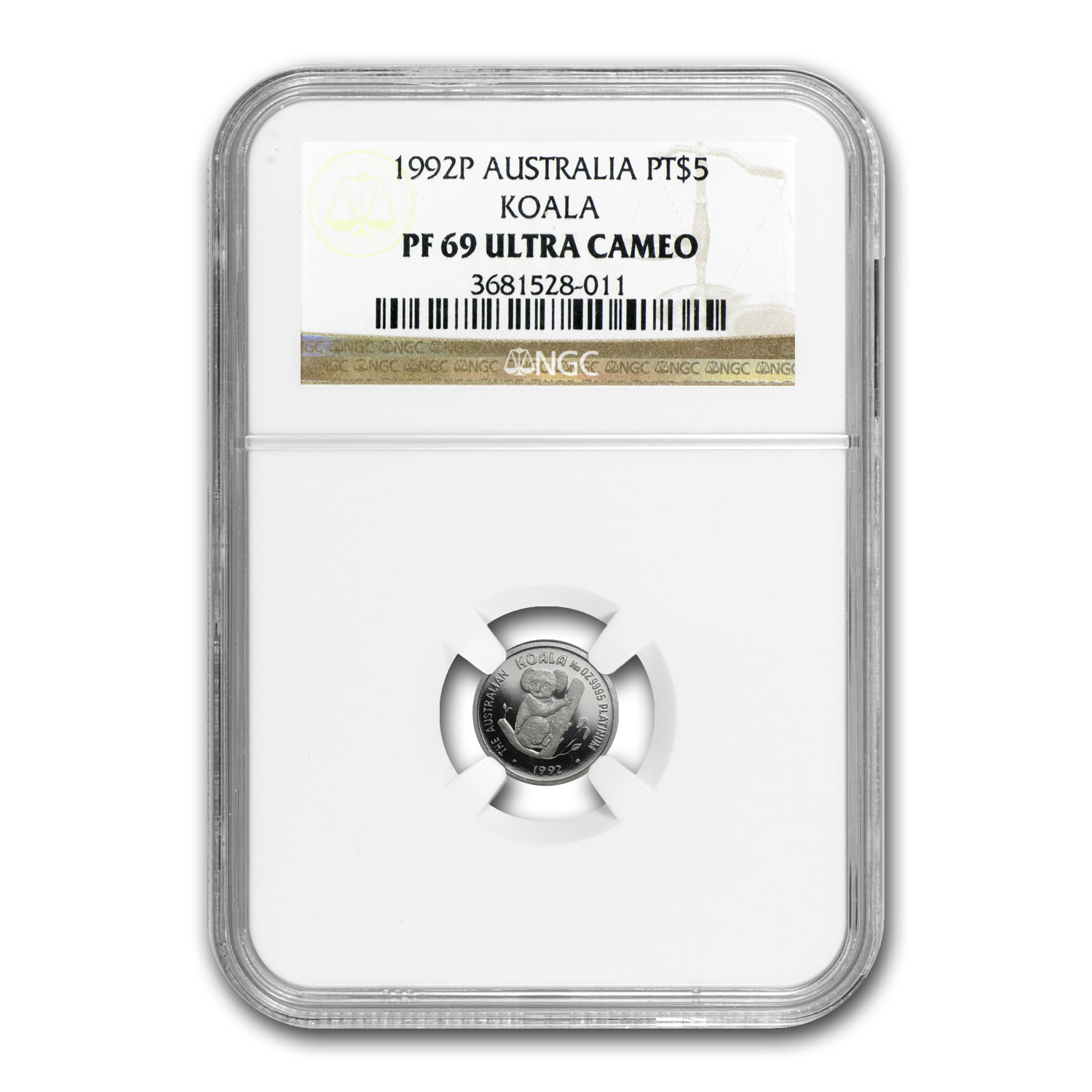 1992 Australia 1/20 oz Proof Platinum Koala PF-69 NGC