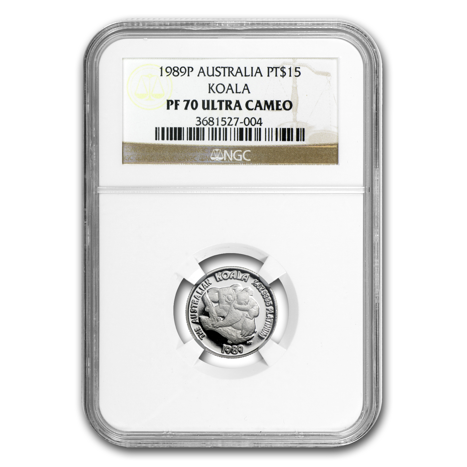 1989 Australia 1/10 oz Proof Platinum Koala PF-70 NGC