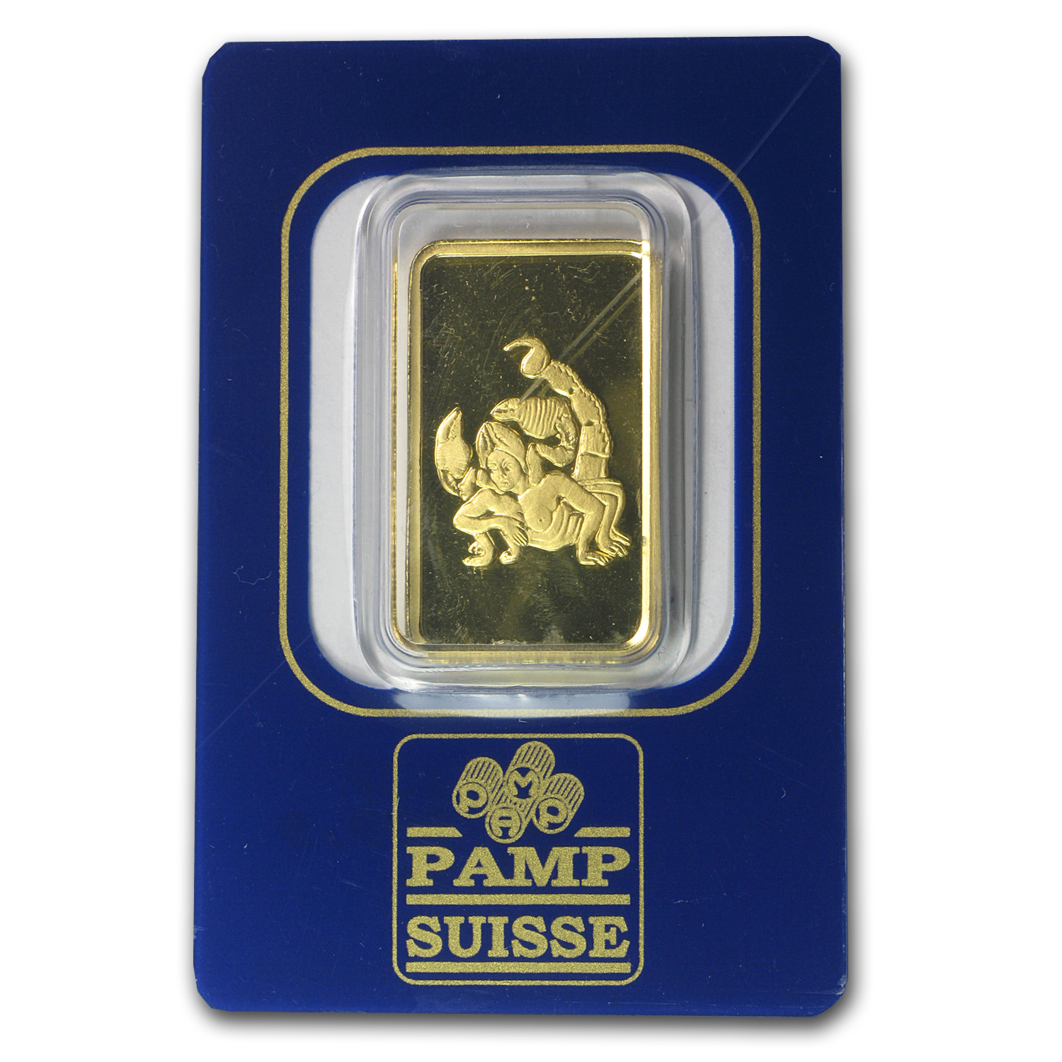 10 gram Gold Bar - Pamp Suisse Scorpio the Scorpion (In assay)