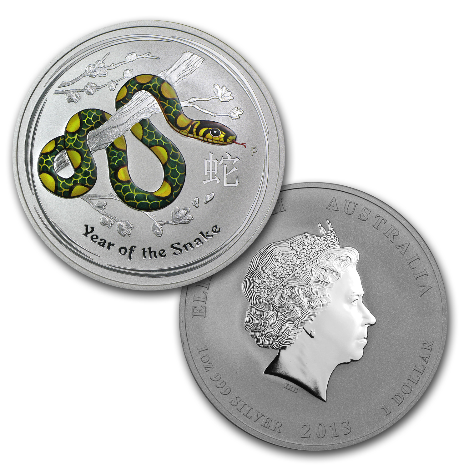 2013 4-Coin 1 oz Silver Australian Year of the Snake Type Set