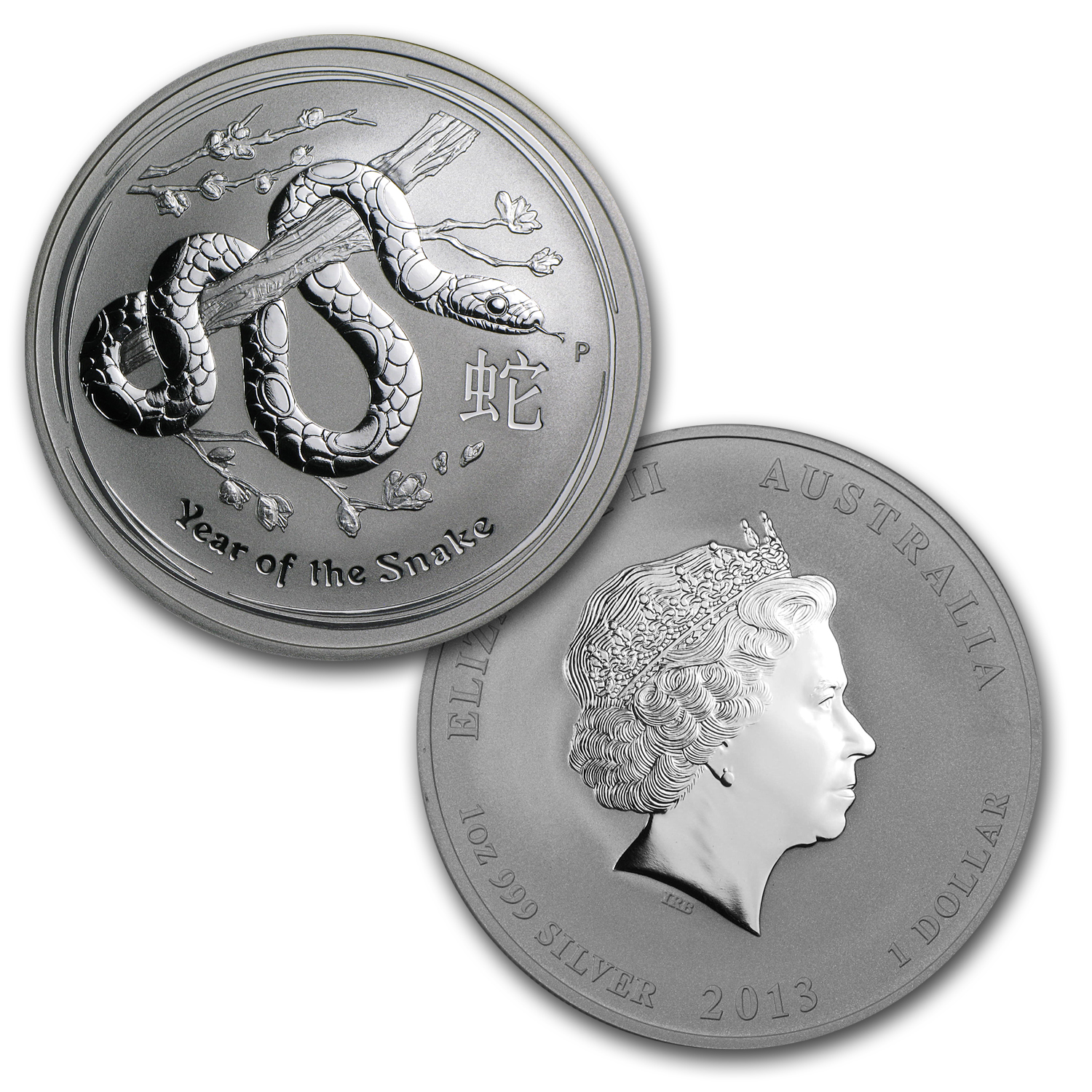 2013 Australia 4-Coin 1 oz Silver Year of the Snake Type Set