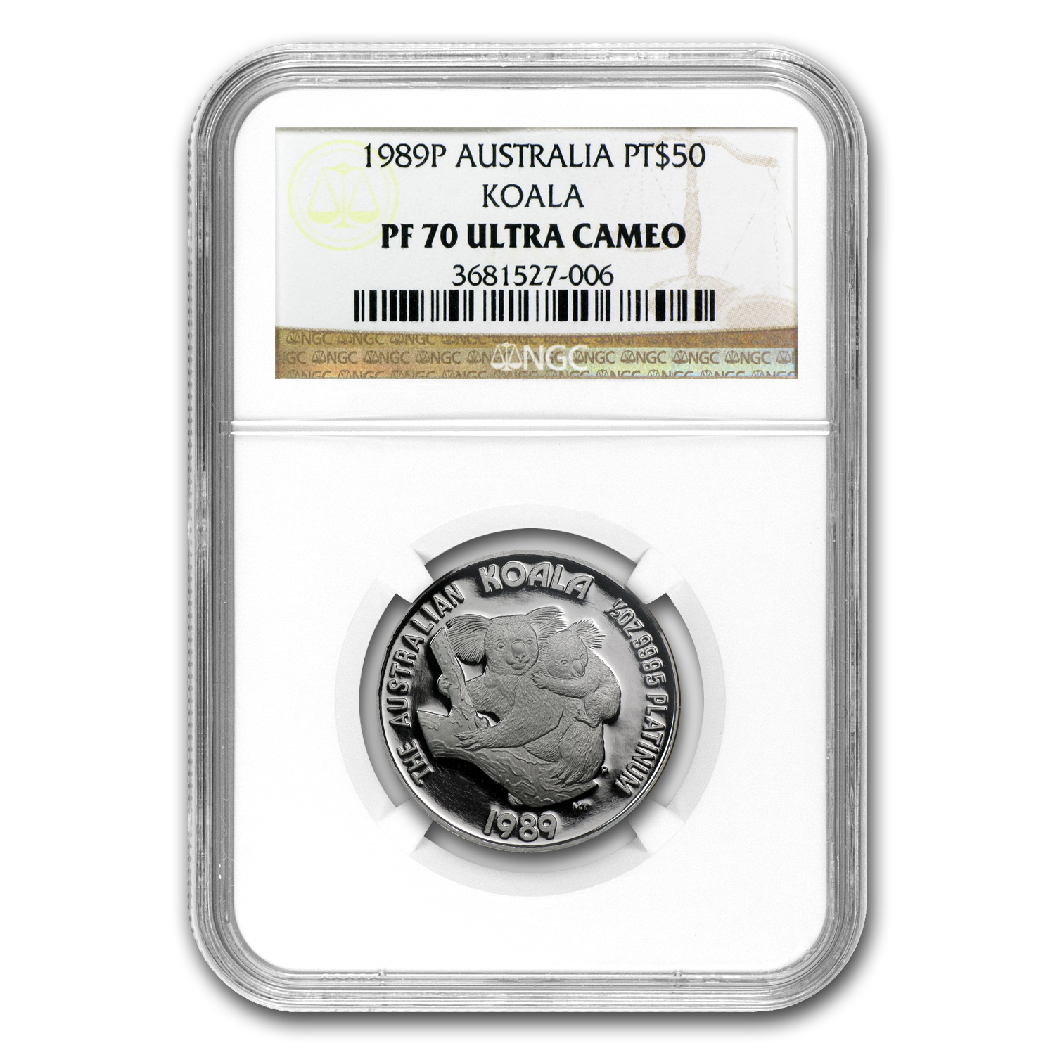 1989 Australia 1/2 oz Proof Platinum Koala PF-70 NGC