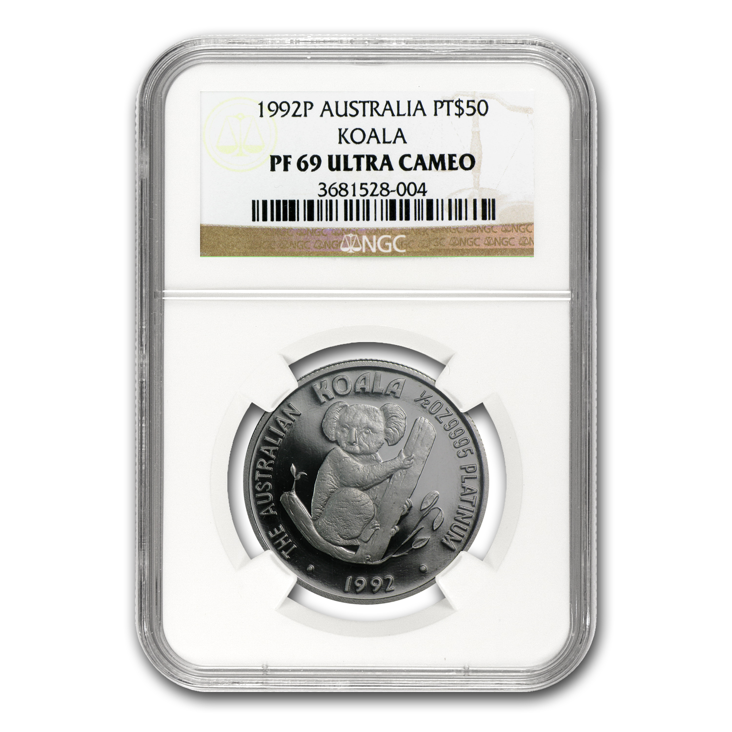 1992 Australia 1/2 oz Proof Platinum Koala PF-69 NGC
