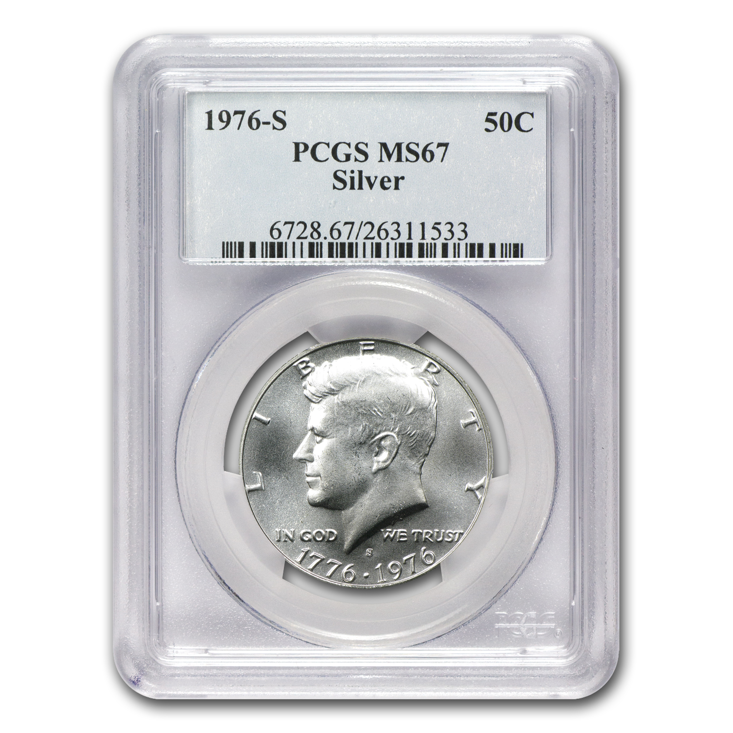 1976-S 3-Pc 40% Silver Bicentennial Mint Set MS-67 PCGS